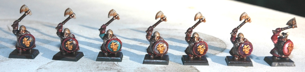 Dwarf Warrior - Test Paints